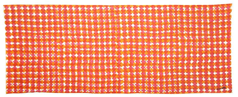 ギザギザクロス ピンク-オレンジ