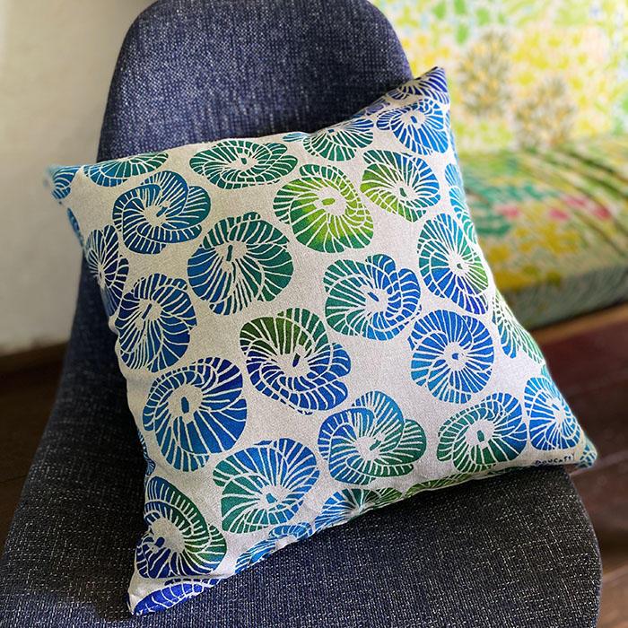 青いゆうなのクッションカバー <br>cushioncover-blue yuna<br>