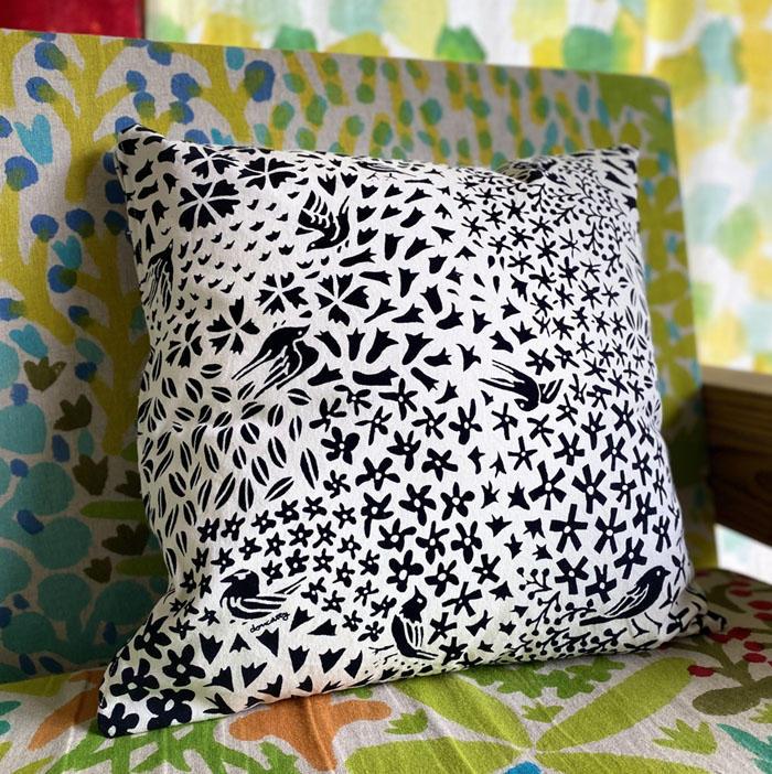 花鳥のクッションカバー <br>Cushion Cover-kachou<br>