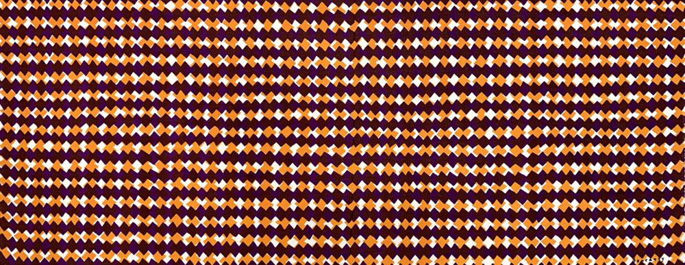 ギザギザクロス 紫オレンジ