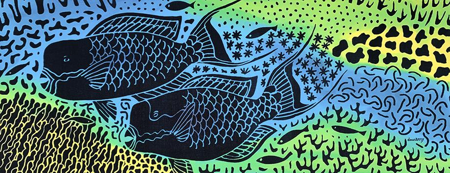 イラブチャー彩色 Blue<br>Irabuchar hand painted Blue