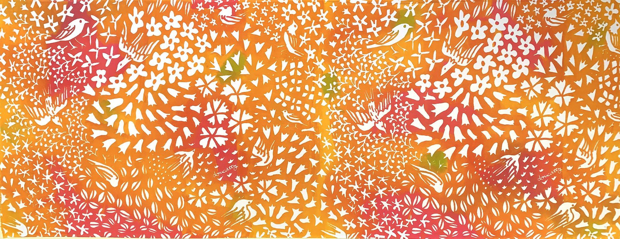 花鳥 gradation orange
