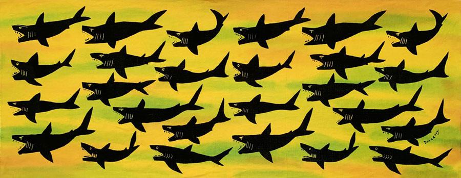 サメ  yellow