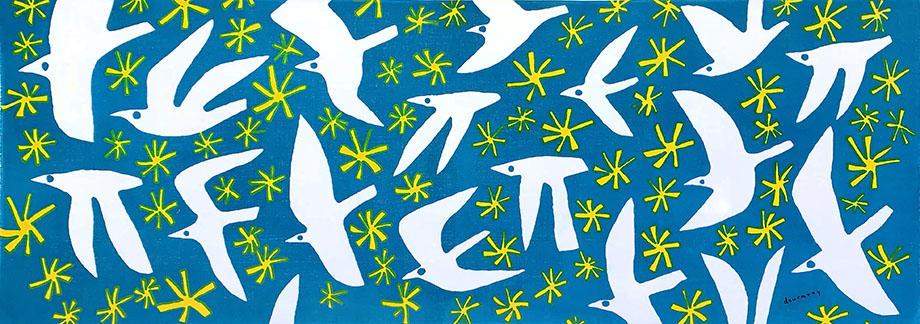 飛ぶ鳥 blue