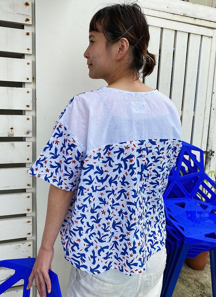 鳥のコットンシャツ<br>Cotton Shirts - tori<br>