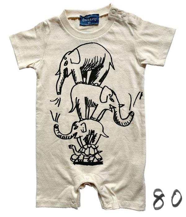 ぞうさんのロンパース 80<br>rompers _ elephants 80