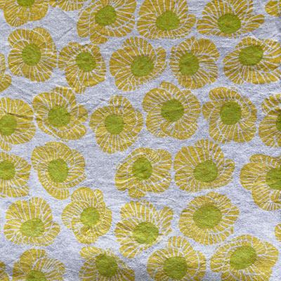 黄色いゆうなのテーブルクロス<br />Ramie Tablecloth - yuuna yellow<br />