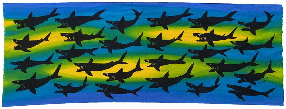 サメ blue & Yellow