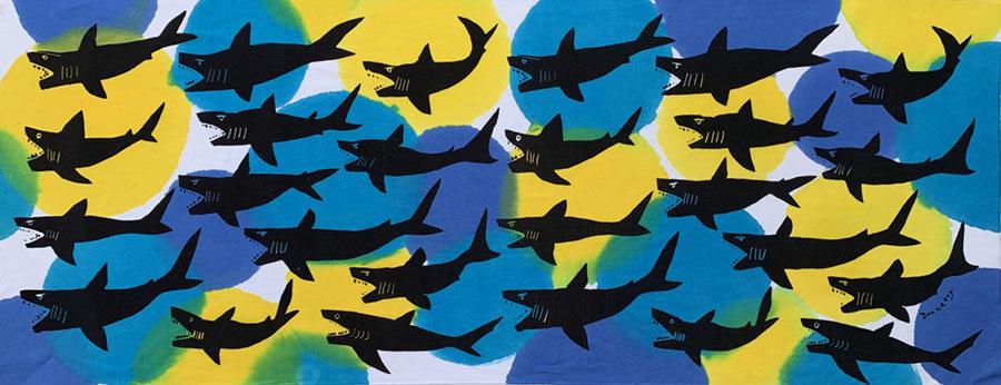 サメ まる模様